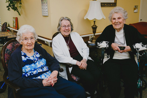 Smiling Elderly Women