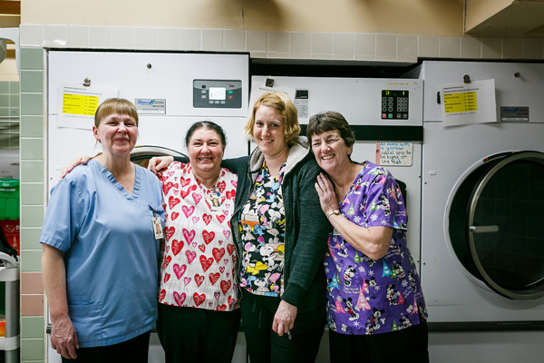 Grove Park Staff in the Laundry Room